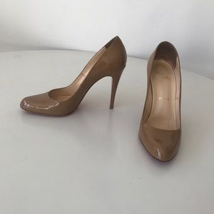 Christian Louboutin Fifille nude patent pumps